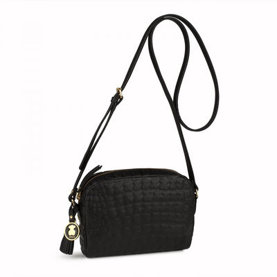 Black Leather Sherton Crossbody bag, TOUS, Handbags