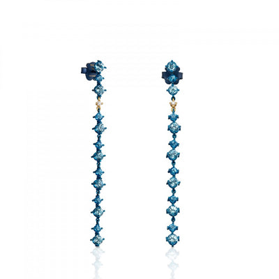Titanium and Gold Tytan Earrings with Topazes and Diamond, Tous