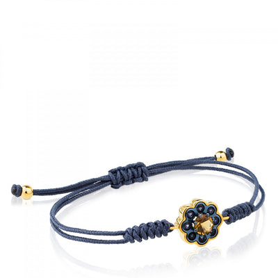 Gold and Titanium View Bracelet with Iolite and Citrine