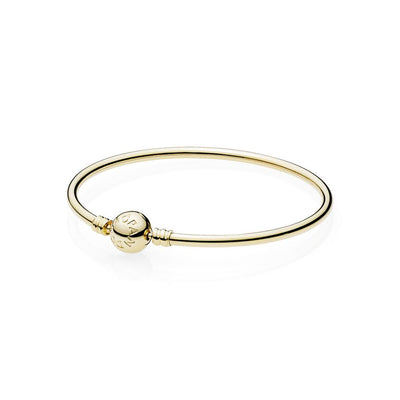 14K Gold Bangle w/ Signature Clasp