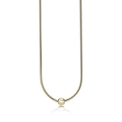 14K Gold Necklace w/ 14K Gold Signature Clasp, 42 cm
