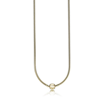14K Gold Necklace w/ 14K Gold Signature Clasp, 45 cm