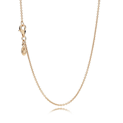 Sterling Silver Chain with 14k Rose Gold Plating, 90 cm/35.4 in