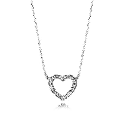 Necklace Loving Hearts of PANDORA with Clear Cubic Zirconia, 45 cm