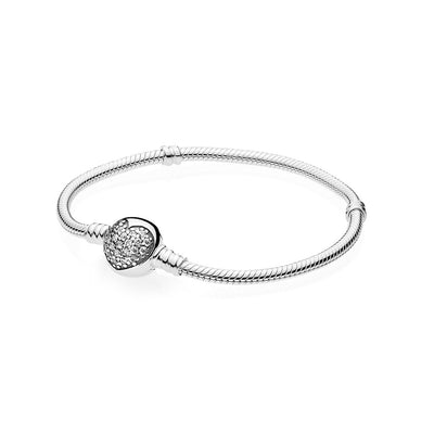 Moments Bracelet Sparkling Heart with Clear Cubic Zirconia