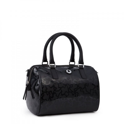 Black colored Kaos Shiny Bowling bag, TOUS, Handbags