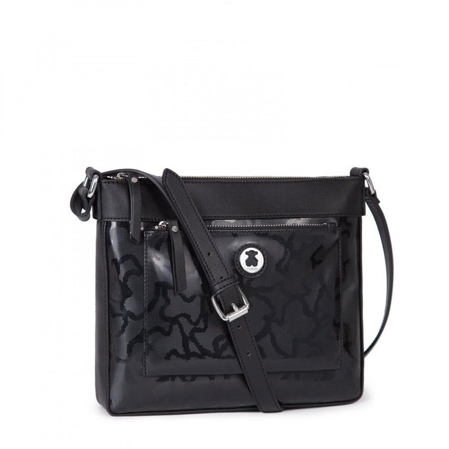 Black colored Kaos Shiny Crossbody bag, TOUS, Handbags