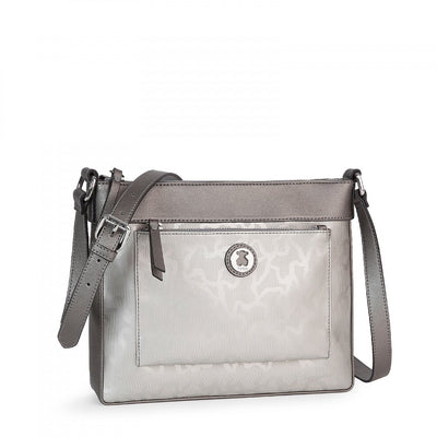 Silver colored Kaos Shiny Crossbody bag