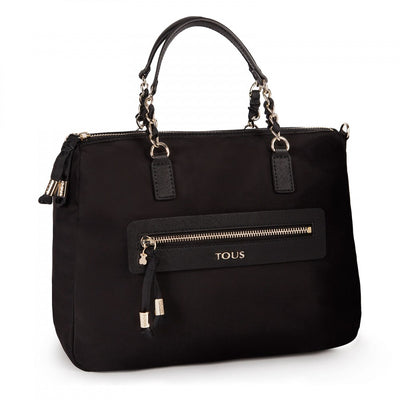 Black colored Canvas Brunock Chain Bowling bag