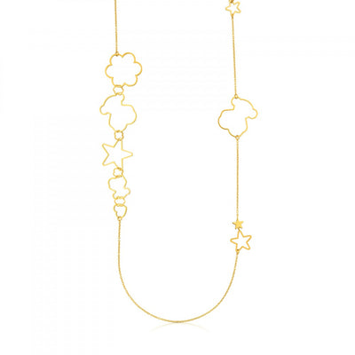 Vermeil Silver New Silueta Necklace, Tous