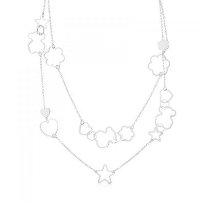 Silver New Silueta Necklace, Tous