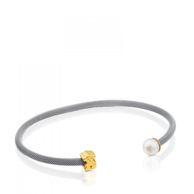 Steel and Gold Icon Mesh Bracelet, Tous