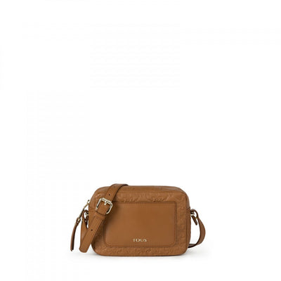 Medium natural colored Leather Mossaic Crossbody bag, Tous, Handbags