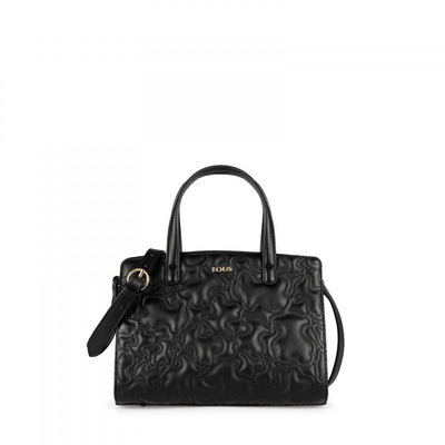 Medium black Kaos Capitone Bowling Bag, Tous, Handbags
