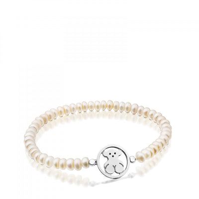 Camille Bracelet in Silver with Pearls, TOUS, Bracelet