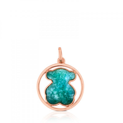 Rose Vermeil Silver Camille Pendant with Amazonite, Tous
