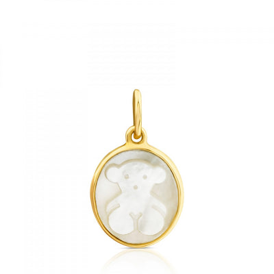 Gold with Mother-of-Pearl Camee Pendant, Tous