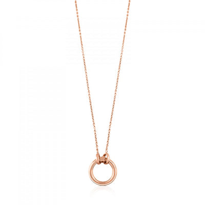 Pink Vermeil Silver Hold Necklace, Tous