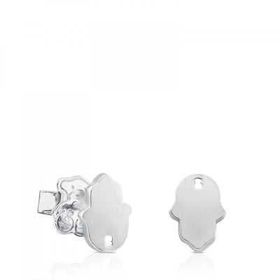 Silver Idol Protection Earrings