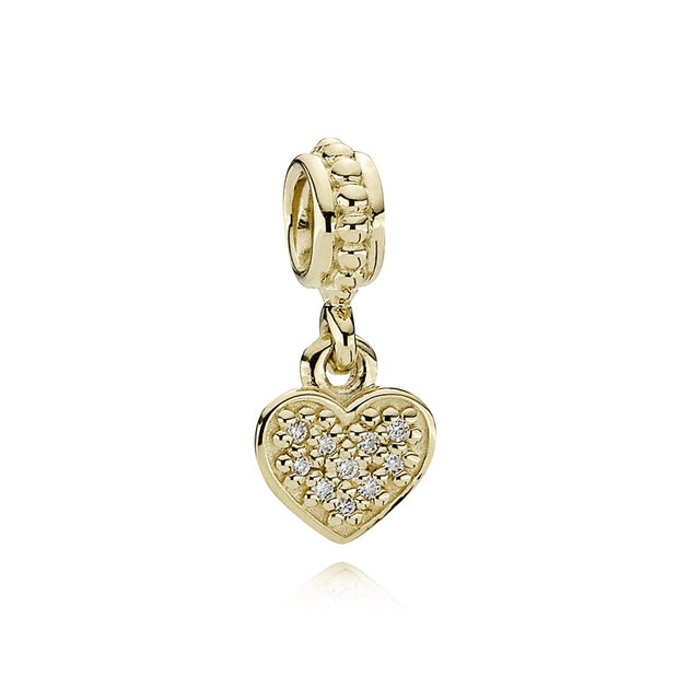 Pave Brilliant Heart, Diamond 0.06 Ct