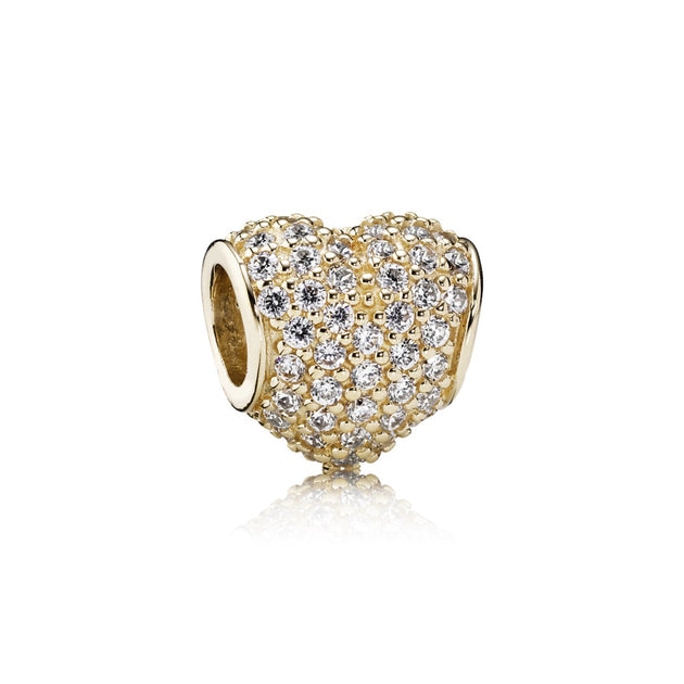 Pave Heart, Clear CZ