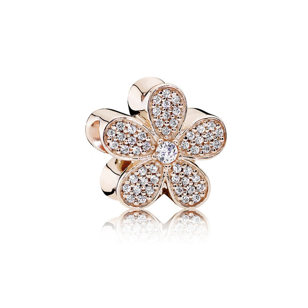 PANDORA Rose Charm Dazzling Daisy with Clear Cubic Zirconia