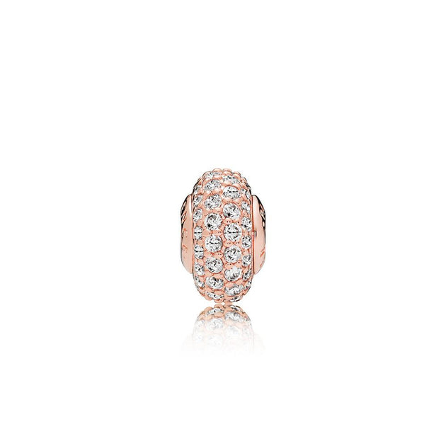 ESSENCE spacer in PANDORA Rose with 72 bead-set clear cubic zirconia