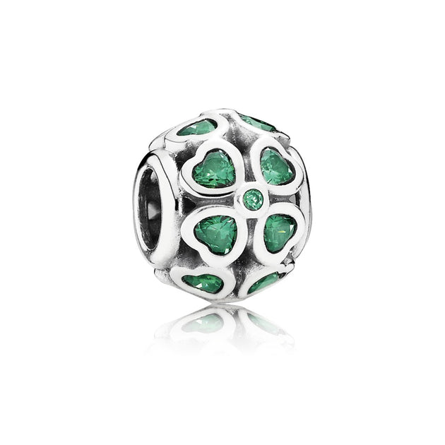 Green Lucky Clover, Dark Green CZ