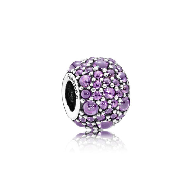 Charm Purple Shimmering Droplets with Fancy Purple Cubic Zirconia