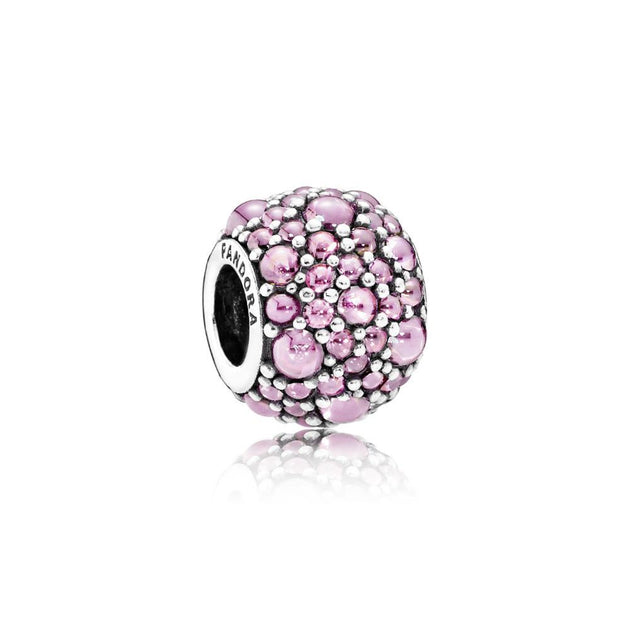 Charm Pink Shimmering Droplets with Pink Cubic Zirconia