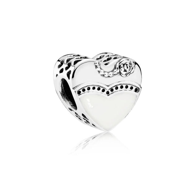 Charm Our Special Day with Black and White Enamel