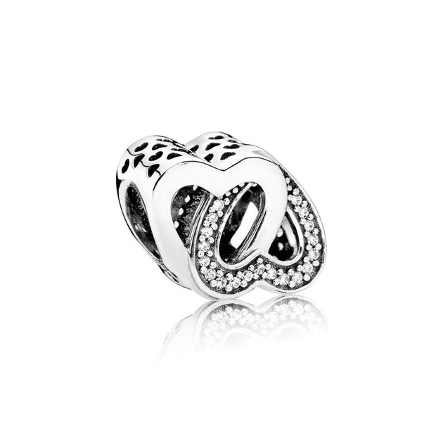 Charm Entwined Love with Clear Cubic Zirconia