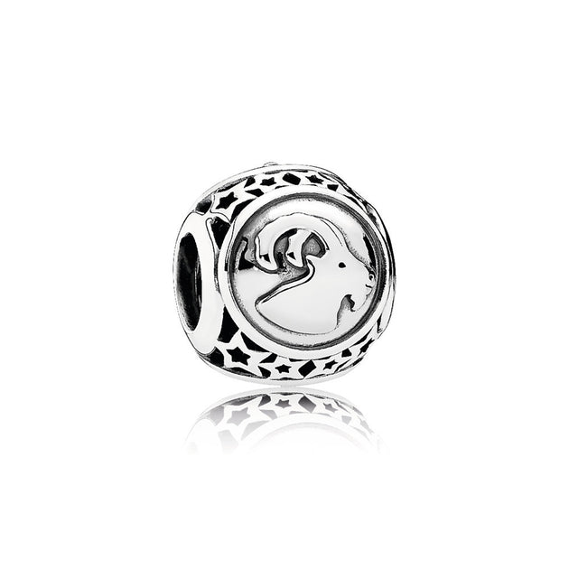 Charm Openwork Capricorn Star Sign