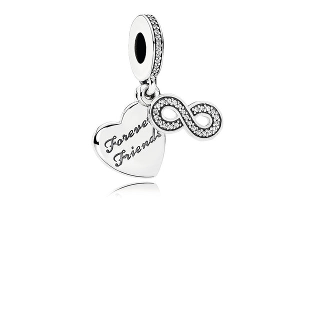 Dangle Forever Friends with Clear Cubic Zirconia
