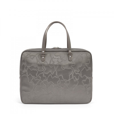Silver Canvas Kaos Arrow Briefcase
