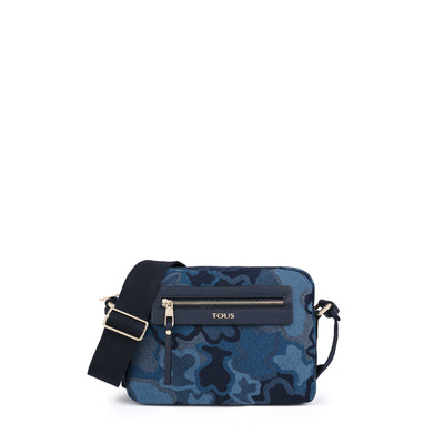 Medium navy Denim fabric Valsaria Crossbody bag, Tous, Handbags