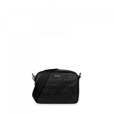 Small black colored Leather Raquel Crossbody bag, Tous