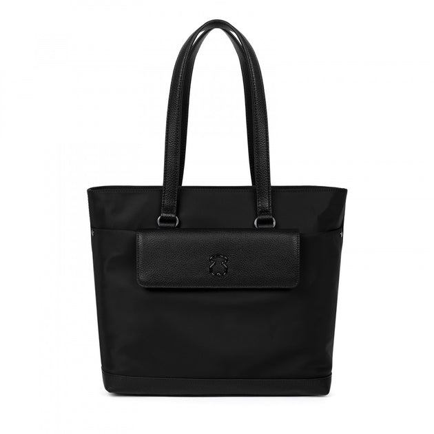 Black Canvas Laina Tote bag, Tous Handbag