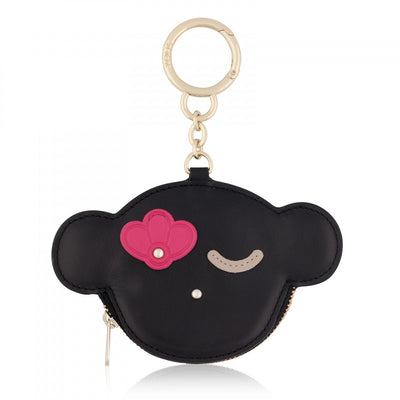 Black Leather Whim Change purse-Key ring, TOUS, Handbags