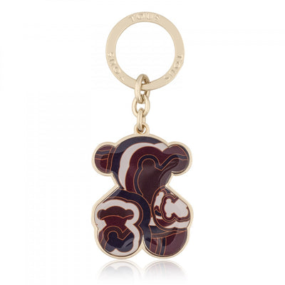 Burgundy-navy Oso Myah Key ring, TOUS, Accessories