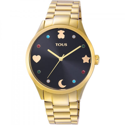 Gold IP steel Super Power Watch, Tous