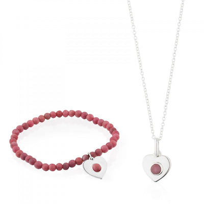 Silver Super Power Set with Rhodochrosite, Tous, Pendant