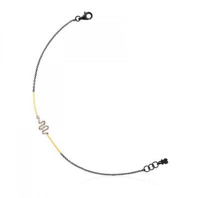 Gold and Silver Gem Power Bracelet with Diamonds, Tous
