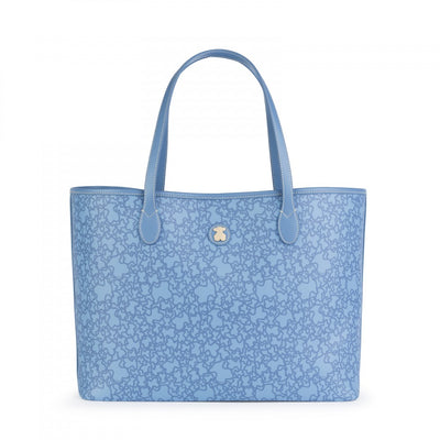 Large blue Kaos Mini Tote bag, Tous