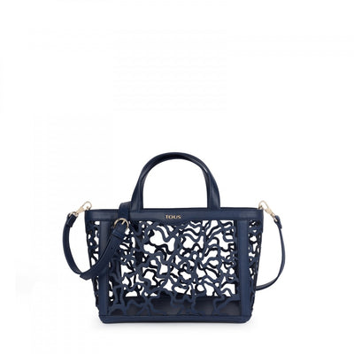 Small navy blue Kaos Shock Tote bag, Tous
