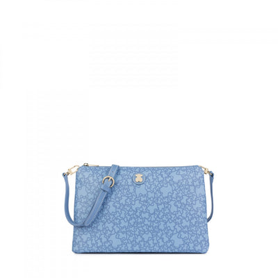 Large blue Kaos Mini Crossbody bag, Tous
