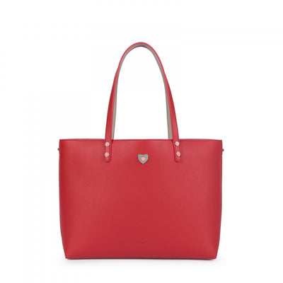Taupe-red Super Power Tote bag, Tous