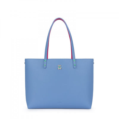 Fuchsia-blue Super Power Tote bag, Tous