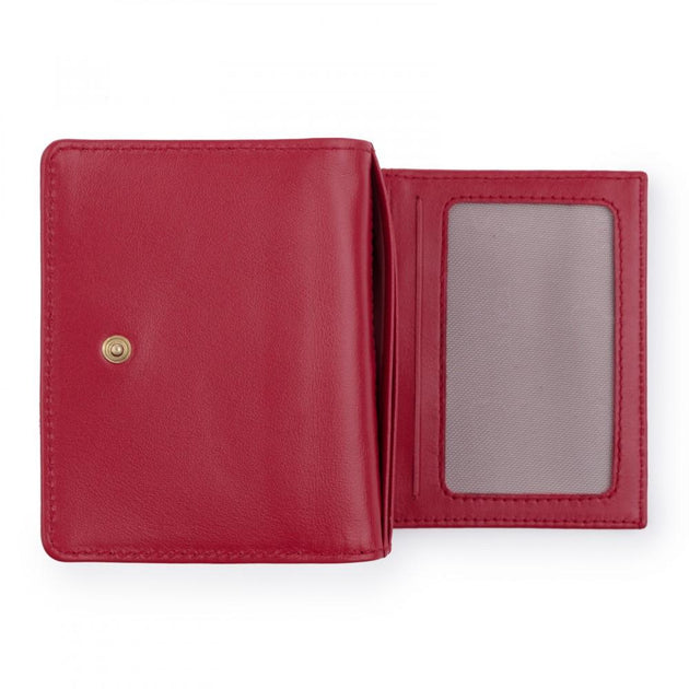 Small red Leather Mossaic Wallet