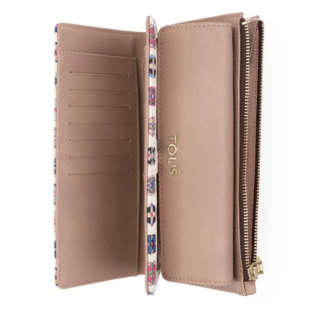 Medium beige Canvas Mossaic Tie Wallet